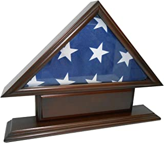 Coin and Coins 5'x9' Flag Case for Veteran / Funeral / Burial Flag - With Name Plate
