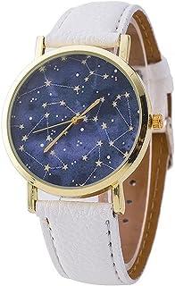Vavna Women Men Math Formula Equation Dial Leather Quartz Watch Student Watches