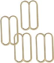 Trimming Shop Tri-Glide Metal 3-Bar Slider Buckle Adjustable Fasteners for Webbing Straps, Belts, Clothing, Handbag, Footwear, Leathercraft, Gold, 30mm, 20pcs
