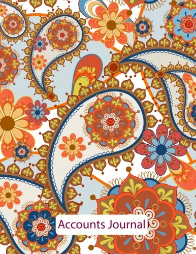 Accounts Journal: Financial Accounting Journal Entries : Notebook: Mandala 4: With Columns For Date, Description, Reference, Credit, And Debit. Paper Book Pad with 120 Record Pages 8.5 In By 11 In
