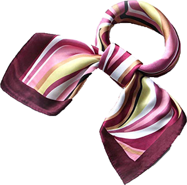 Women's Silk Satin Small Square Scarf Neck Head Hair Ladies Scarf Fashion Scarves Mixed Pattern Print Wraps 60x60cm S006