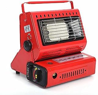 BKWJ Chauffage au gaz Portable 2 en 1, alimenté au gaz Propane/Butane à Double Carburant, réchaud de Camping Multifonction...