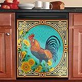 You are My Sunshine Sunflower Kitchen Decorative for Dishwasher Door,Refrigerator Ethnic Rooster Dishwasher Magnet Cover,Cock Magnetic Vinyl Decals Magnetic Dishwasher Sticker(Magnetic Sticker)