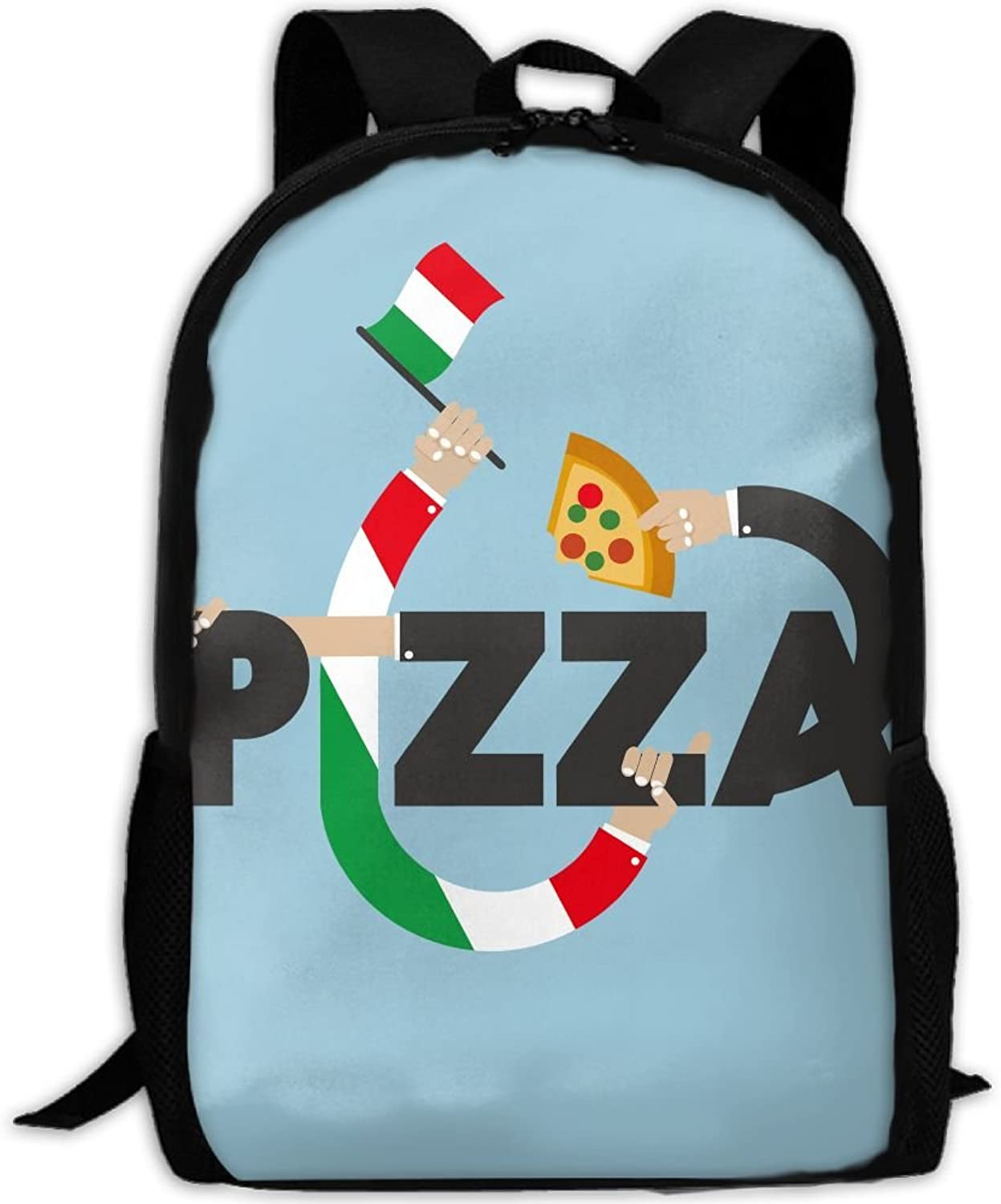 21633422c4b9 Creative Pizza Adult Backpack College Oxford Bag Unisex Business ...