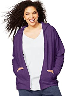 Women's Plus-Size Full Zip Fleece Hoodie