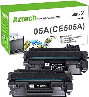 Aztech Compatible Toner Cartridge Replacement for HP 05A CE505A Laserjet P2035 P2035N P2055DN (Black, 2-Pack)