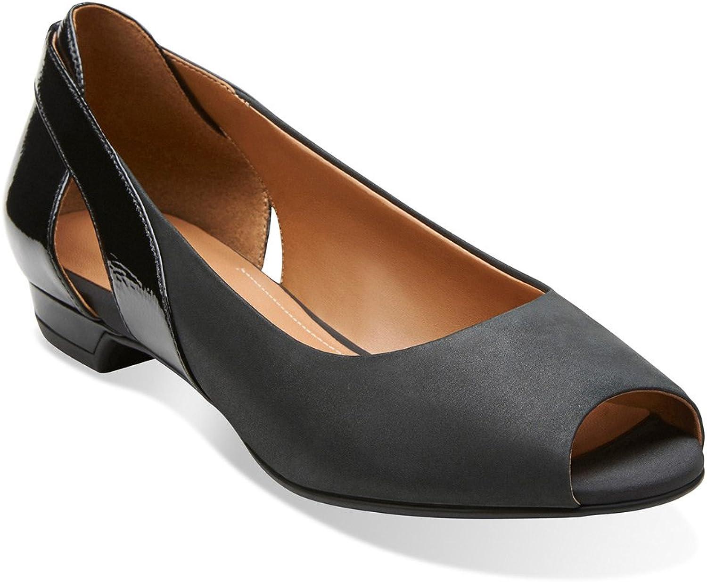 Clarks Coralie May Womens Peep Toe Flats