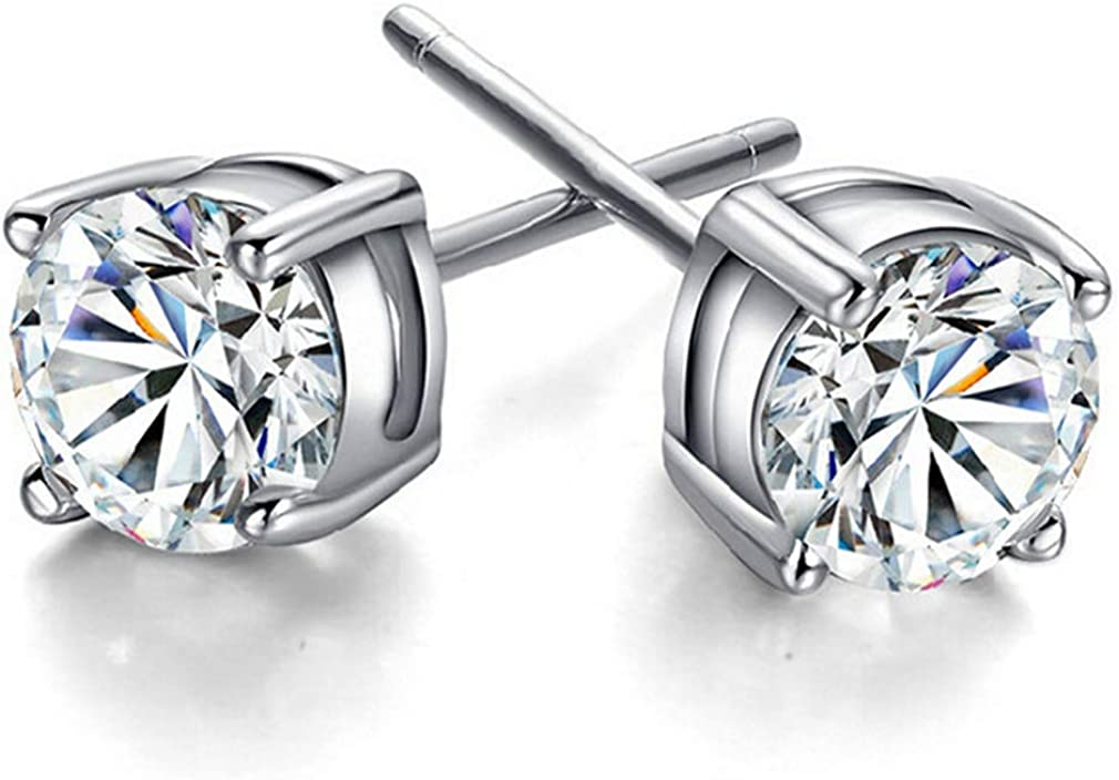 Large discharge sale YAZILIND Princess Austrian Gemstone Superlatite Stud Earrings for Women ladi