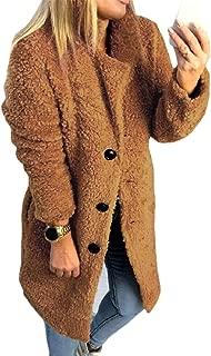 EnergyWomen Mid Long Stand Collar Solid Leisure Velvet Button Coat Jacket