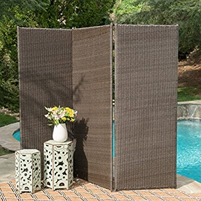 Christopher Knight Home 300377 Osage Outdoor Wicker Privacy Screen (Light Ash Brown)
