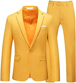 Men's Classic 2 Piece Straight Slim Fit Suit One Button Formal Business Jacket Blazer Shawl Collar Jackets And Trouser