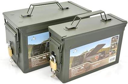AB municiones con Llave y Caja de Herramientas con Cerradura (Aceituna/Calibre 30): Amazon.es: Deportes y aire libre