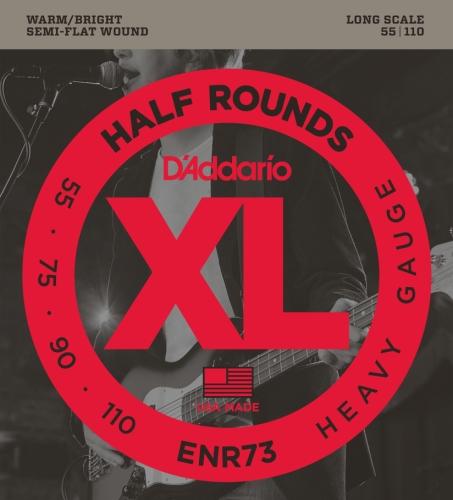 D'Addario ENR73 - Juego de cuerdas para bajo eléctrico de níquel.055 - .110