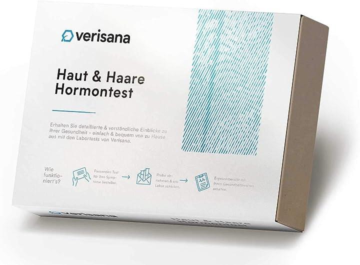 Kit test ormonale skin & hair balance plus per cortisolo, estradiolo,testosterone, progesterone, dhea verisana B0091CXW1C