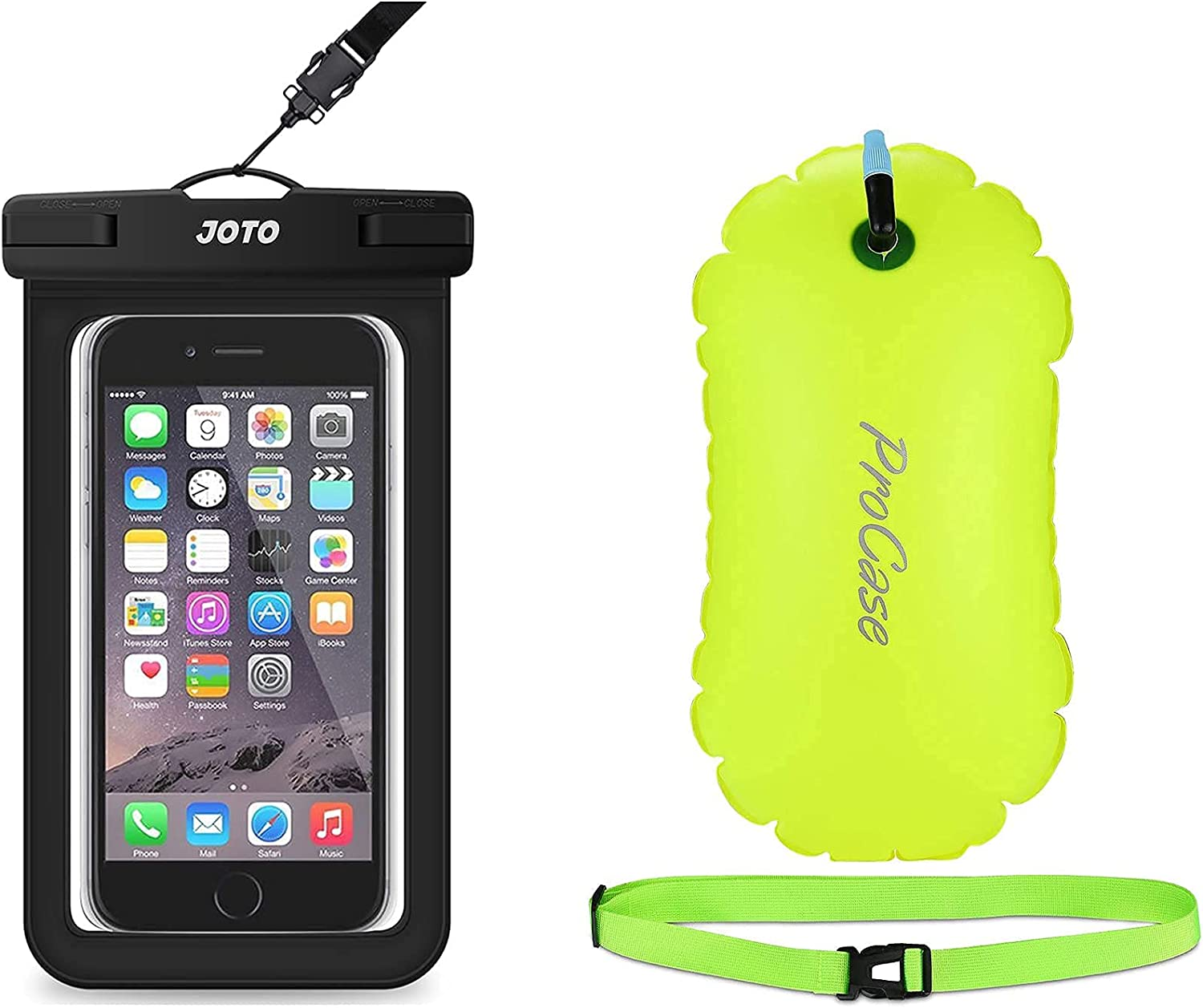 JOTO Universal Waterproof Pouch Cellphone Dry Bag Case for Phones up to 7
