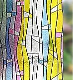 LMKJ Película de privacidad Opaca Pegatina de Vinilo autoadhesiva electrostática para Ventanas, película de protección contra el Calor y los Rayos UV para Puertas y Ventanas de Vidrio A7 45x100cm