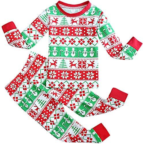 FANCYINN Chicos Chicas Conjuntos de Pijamas de Navidad Niños pequeños Reno Disfraz Manga Larga Ropa de Dormir...