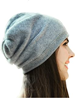 WaySoft 100% Cashmere Beanie for Women in a Gift Box, Oversized Women Beanie Hat