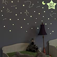 Glow in The Dark Stars Decals Decor For Ceiling 633 Pcs Realistic 3D Stickers