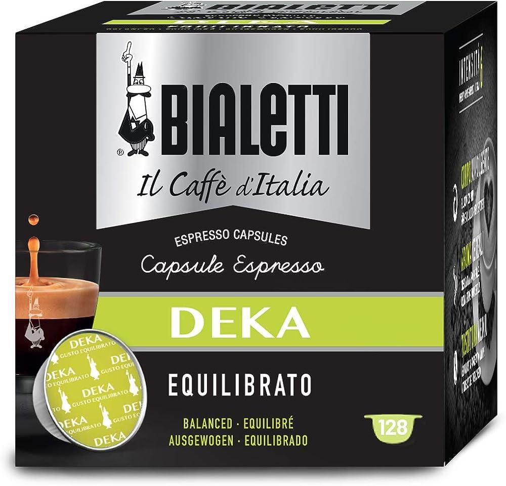 Bialetti il caffè d`italia, deka (gusto equilibrato) - multipack 128 capsule