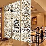 Desconocido 4pcs pantalla colgante tabique separador de ambientes cortina divisores muebles arte flor mariposa adorno salón hogar - blanco