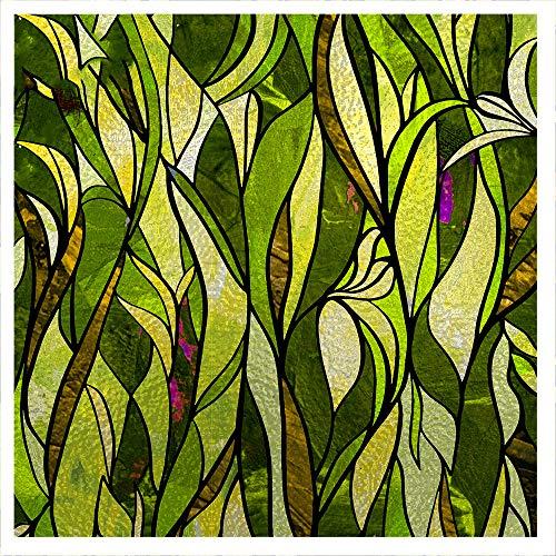 Hojas de película de Vidrio Etiqueta de Ventana de privacidad esmerilada Adhesivo Decorativo Sin Pegamento Pegatinas de Ventana extraíbles (11.81 x 39.37nch) 1 Pieza.