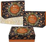 Glamorous Hub Oriental Botanics Jabón de lujo hecho a mano con neroli y vainilla (leche de cabra), 125 g, paquete de 3