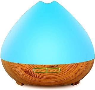 YOMYM - 400ml Wood Grain Ultrasonic Aromatherapy Diffuser & Humidifier - LED & Timer Settings - 7 Color Light Aromatherapy...