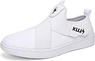 Soulsfeng Classics Skateboarding Skate Shoes Breathable Flyknit Upper, Non-Slip Sole, White