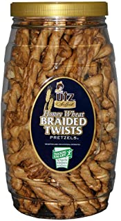 Utz Honey Wheat Braided Pretzel Twists – 26 oz Barrel – Sweet Honey Taste, Thick, Crunchy Pretzel Twists, Perfect for Dipp...
