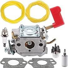 Anzac C1U-W32 Carburetor with Fuel Line Filter Primer Bulb for Poulan PP136E PPB100E PPB150E PPB200E PPB250E PPB300E PPB32SST PP446ET PP446E SM446E PP46ET Zama Carb Trimmer Pruner 545006017