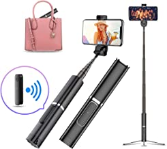 INNOLI Phone Selfie Stick Tripod,Bluetooth Wireless Remote Control Cell Phone Selfie Stick,Compact Small Extendable Selfie Stick Portable for iPhone Samsung and Other Universal Android Smart Phone