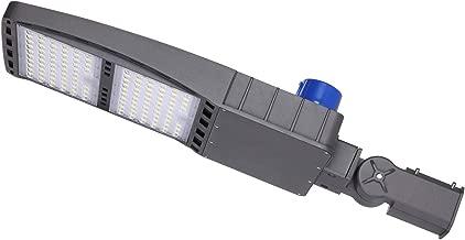 JOMITOP Led Street Light Road Lamp Pole Slip Fit Mount 300W (1000W Equivalent),42,000 Lumen,5000K,IP65 Waterproof,Outdoor Parking Lot,Shoe Box Area Lighting Fixture,AC120-277V ETL DLC 4.0