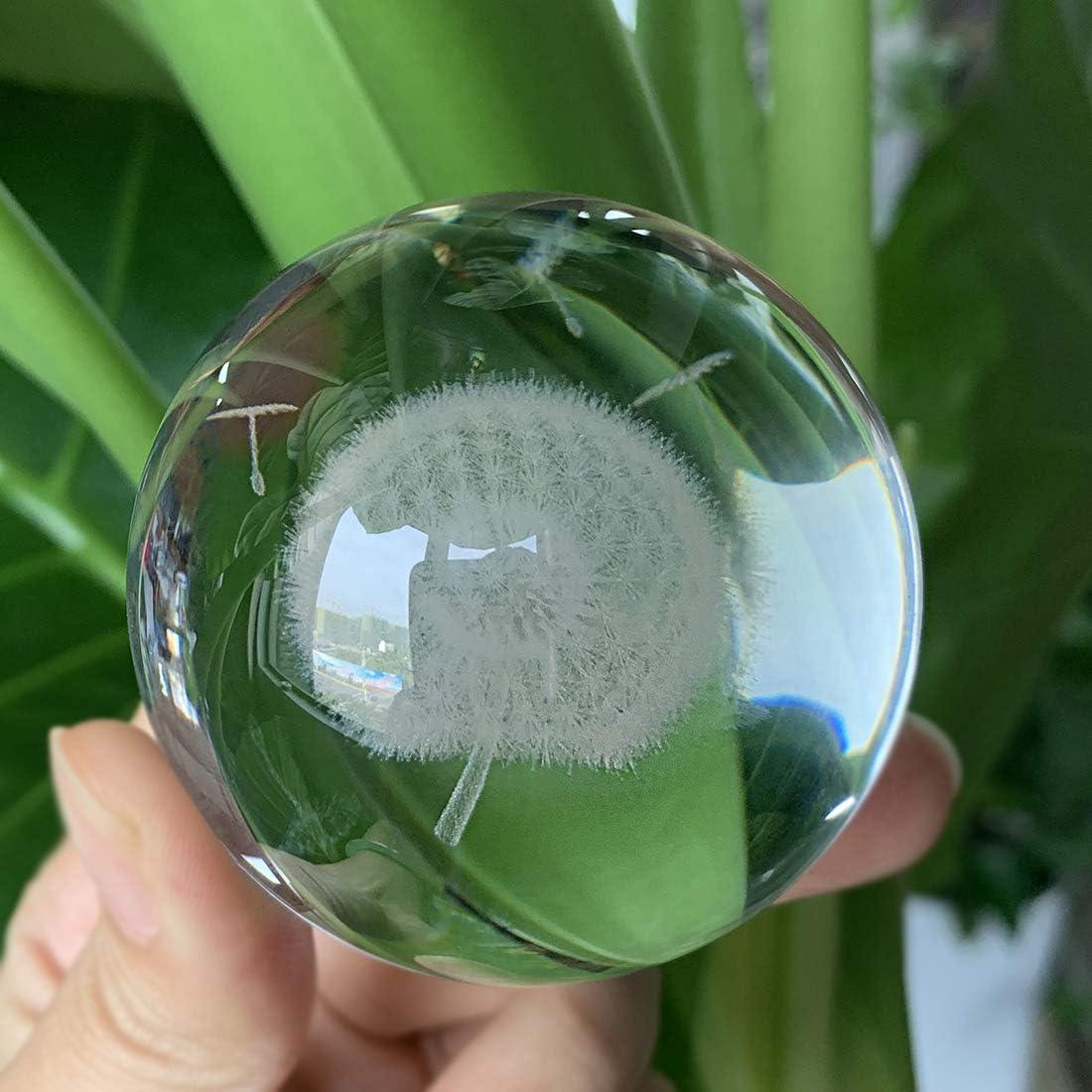 HDCRYSTALGIFTS Presse papier en forme de pissenlit avec boule de ...