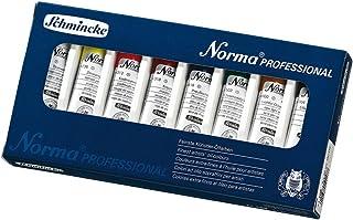 Schmincke Künstlerfarben, Norma® Professional Ölfarbe, Kartonset mit 8 x 20ml Tuben