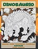 Libros para colorear Mandala - Patrón avanzado - Animales - Dinosaurio