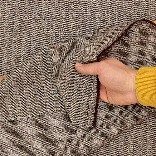 kawenSTOFFE Schurwolle Tweedstoff Fischgrat Italienischer Wollstoff Mantelstoff Meterware