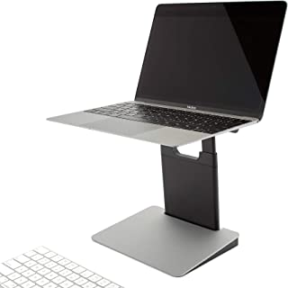 "TINY TOWER Height Adjustable and Portable Laptop Stand for PC and MacBook. Foldable and Collapsible Holder and Riser. Compatible with All 11"", 13"" and 15"" laptops and notebooks."