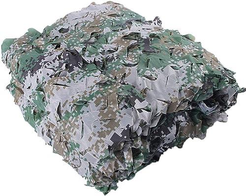 GuoEY Filet De Camouflage Parking Extérieur Conception De Fleurs Coupées Fixation De La Corde en Nylon Camouflage Tissu Oxford, 38 Tailles (Couleur   Vert, Taille   5x10m)