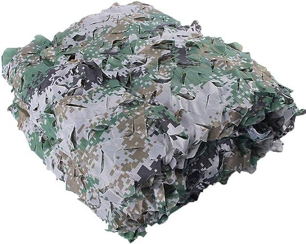 GuoEY Filet De Camouflage Parking Extérieur Conception De Fleurs Coupées Fixation De La Corde en Nylon Camouflage Tissu Oxford, 38 Tailles (Couleur   Vert, Taille   3x8m)
