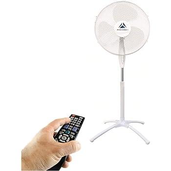 Tristar Ventilatore a Piantana con Telecomando VE-5850 24 velocit/à Rotazione di 85 gradi Nero Display LCD Altezza treppiede regolabile