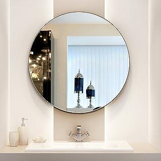 ZYLE الحائط مرآة الحمام مرآة مرحاض جولة مرآة المرحاض الغرور خلع الملابس مرآة واضحة مرآة الصورة 80CM