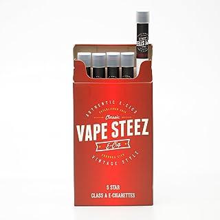 電子タバコ 使い捨て ロングタイプ VAPE STEEZ オリジナル 吸引回数約500回 たばこ型 5本セット (S STAR)