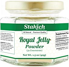 Stakich Fresh Royal Jelly Powder - 1.5 Ounce - 3X Concentrate - Freeze Dried, Pure, Natural