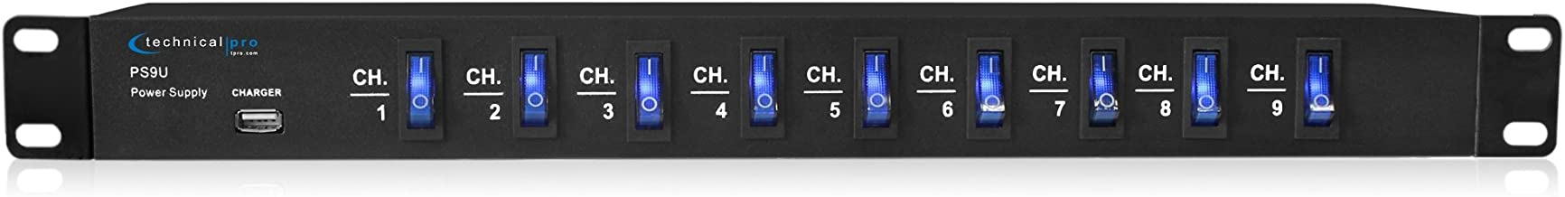 Technical Pro PS9U Rack Mount Power Supply with 5V USB Charging Port