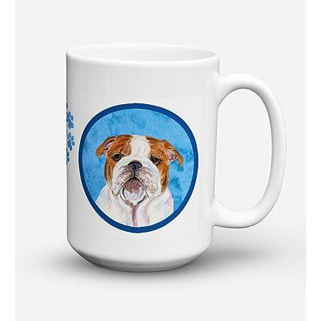 Farting English Bulldog Mug by Pithitude Blue Coffee Cup One Single 11oz