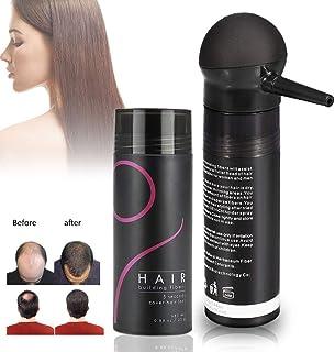 Crecimiento del Cabello Fibras para Pelo Corrector profesional Corrector para adelgazamiento del cabello Aerosol para el cabello con aplicador de spray para la bombapara mujeres y hombres (Negro)