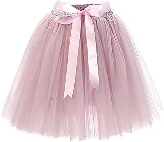 Babyonline 6 Schichten Petticoat Unterrock Elastic Bund Tutu Prinzessin Tüllrock Für Karneval, Party und Hochzeit