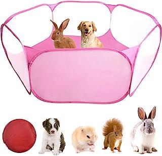 WEONE Jaulas para Animales Pequeños, Tienda de Jaula Plegable, Cerca Transparente Parque Infantil Pop-up Interiores y Exte...