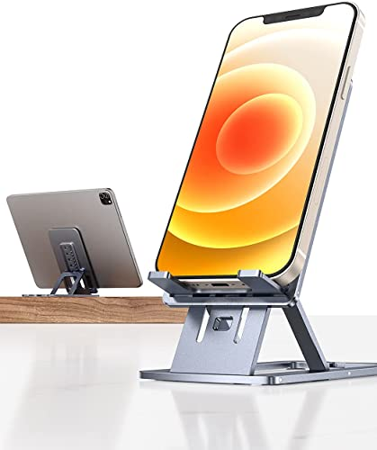 popular Desk Phone Stand, [Sturdy Aluminum online sale Metal] LISEN Adjustable Cell Phone Stand [Ultra Thin] Foldable Phone Stand for Desk Compatible discount with All Smartphones, Tablets outlet online sale